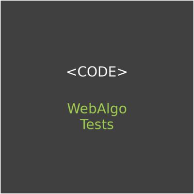 WebAlgo